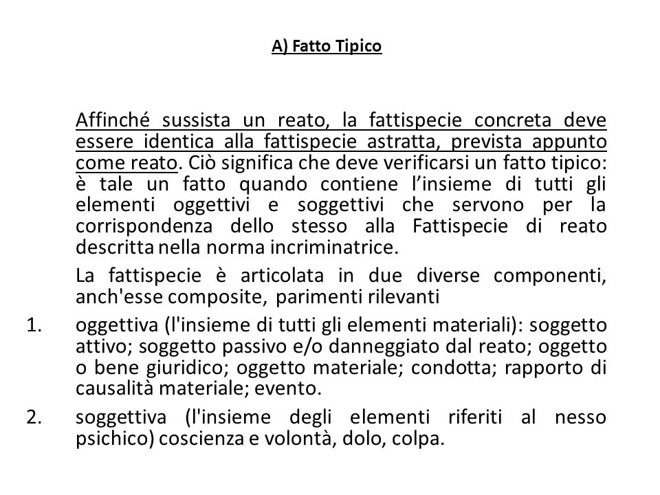 25/06/13 25/06/13. A) Fatto Tipico.