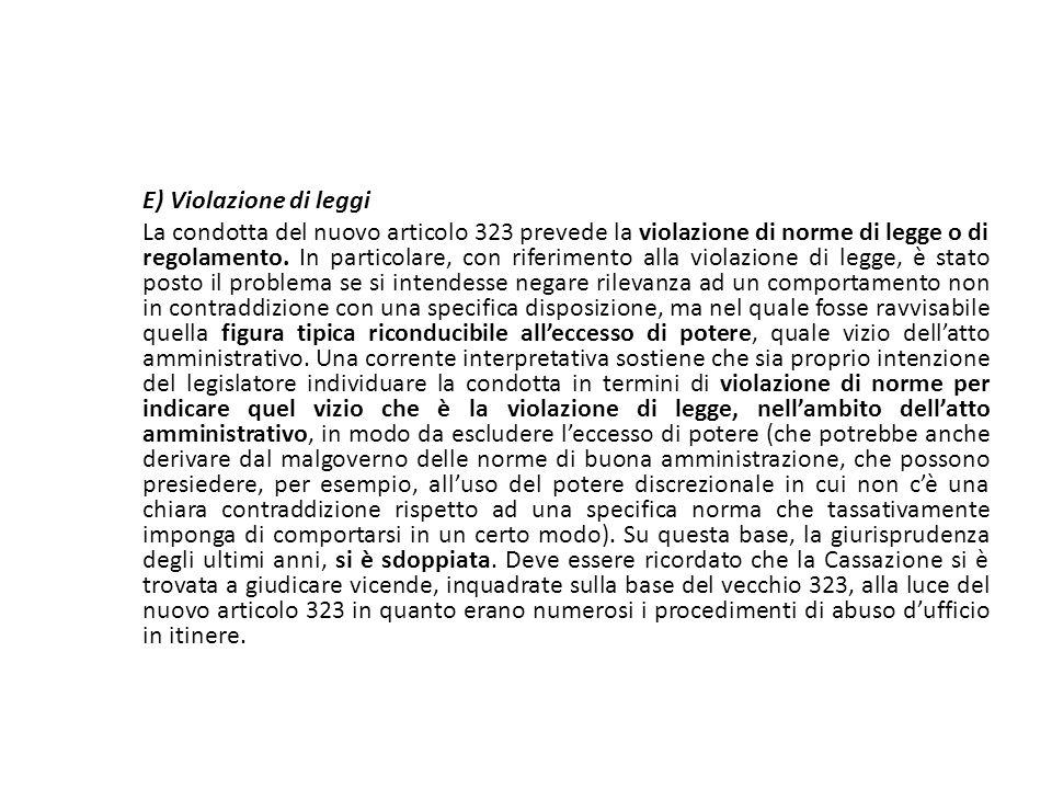 25/06/13 25/06/13. E) Violazione di leggi.