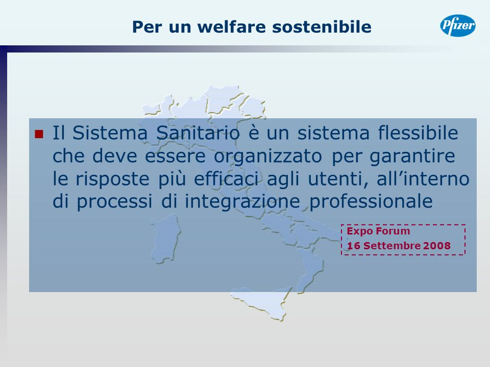 Per un welfare sostenibile