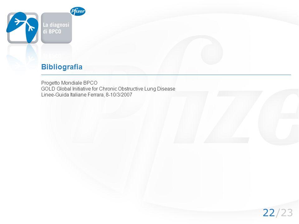 Bibliografia Progetto Mondiale BPCO