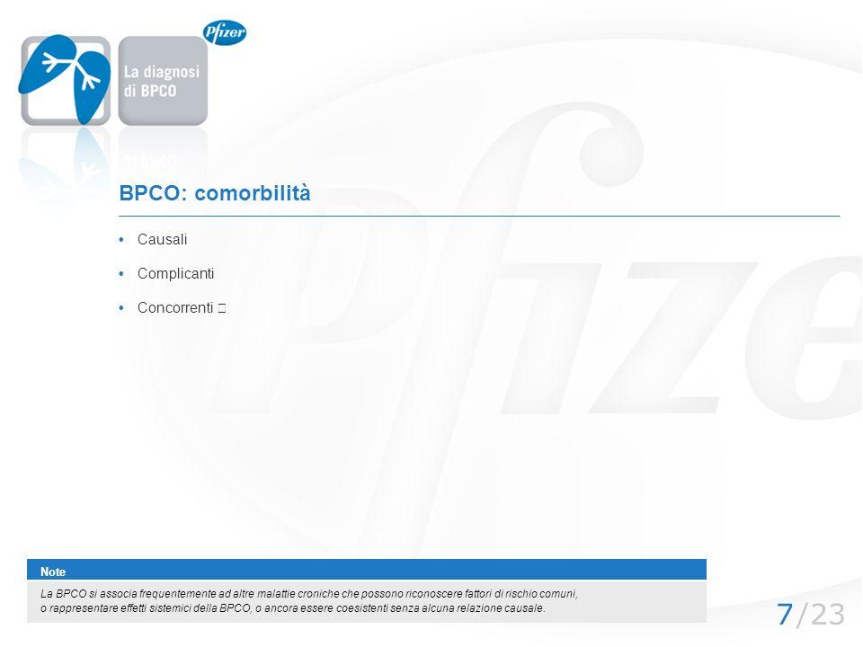 BPCO: comorbilità • Causali • Complicanti Note