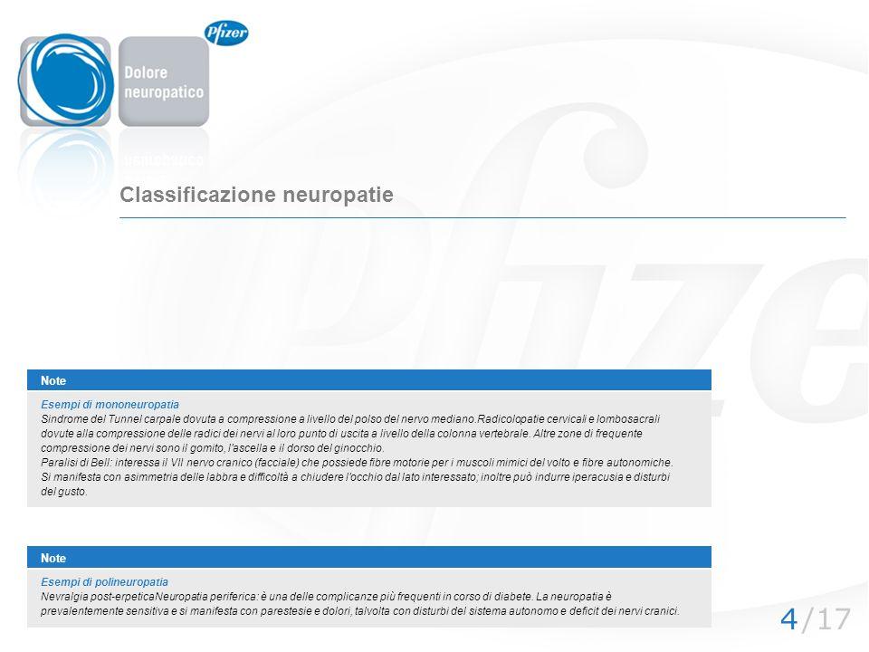 Classificazione neuropatie