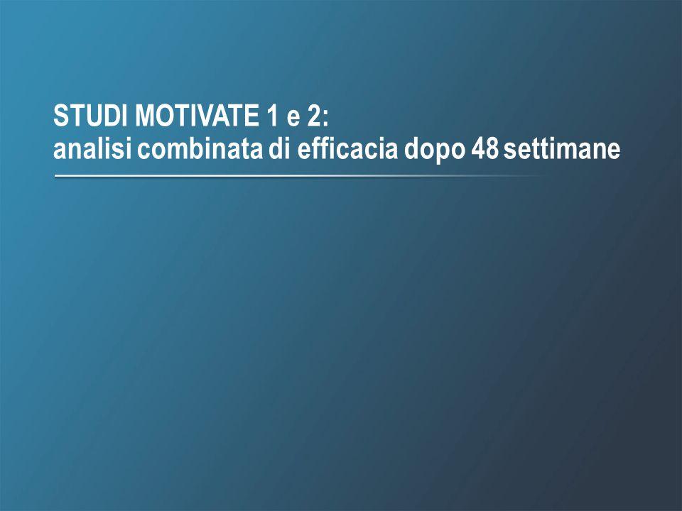 STUDI MOTIVATE 1 e 2: analisi combinata di efficacia dopo 48 settimane