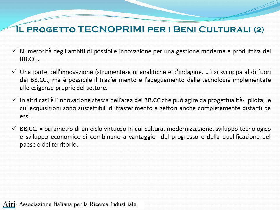 Il progetto TECNOPRIMI per i Beni Culturali (2)