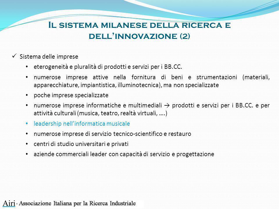 Il sistema milanese della ricerca e dell'innovazione (2)