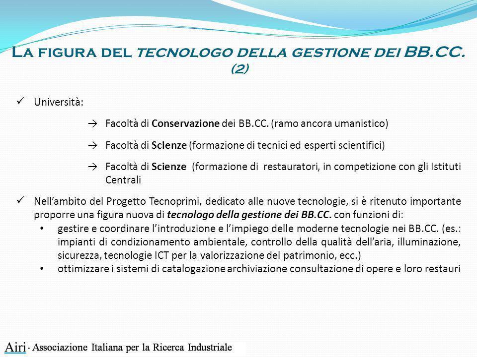 La figura del tecnologo della gestione dei BB.CC. (2)