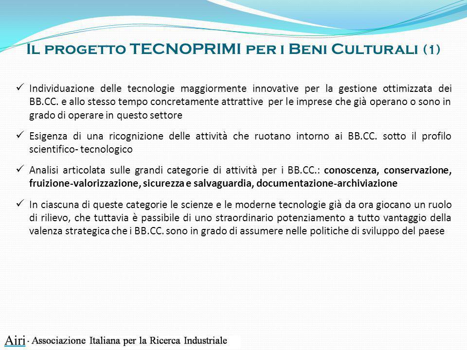 Il progetto TECNOPRIMI per i Beni Culturali (1)