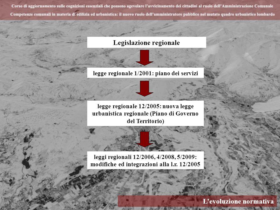 Legislazione regionale legge regionale 1/2001: piano dei servizi