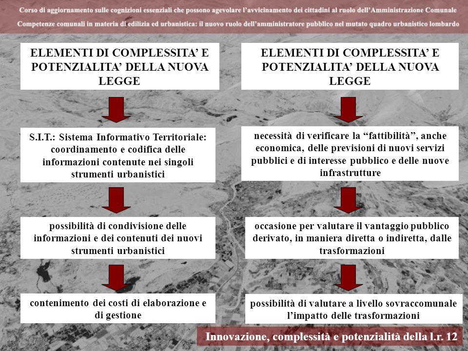 ELEMENTI DI COMPLESSITA' E POTENZIALITA' DELLA NUOVA LEGGE