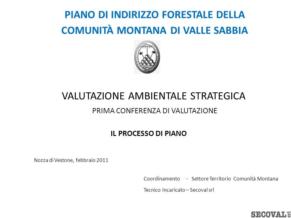 PIANO DI INDIRIZZO FORESTALE DELLA COMUNITÀ MONTANA DI VALLE SABBIA