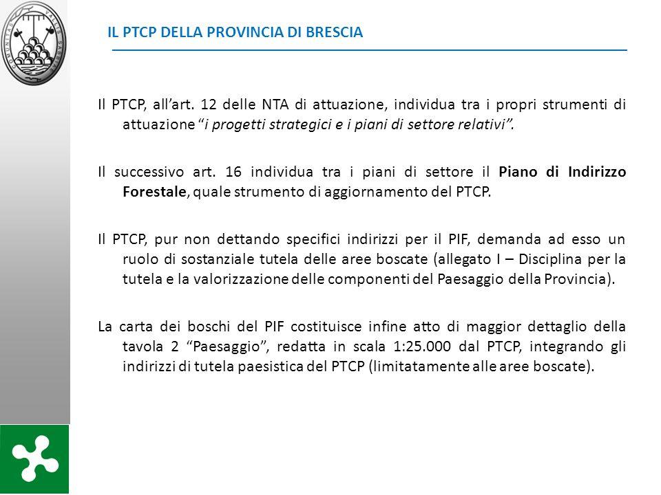 IL PTCP DELLA PROVINCIA DI BRESCIA