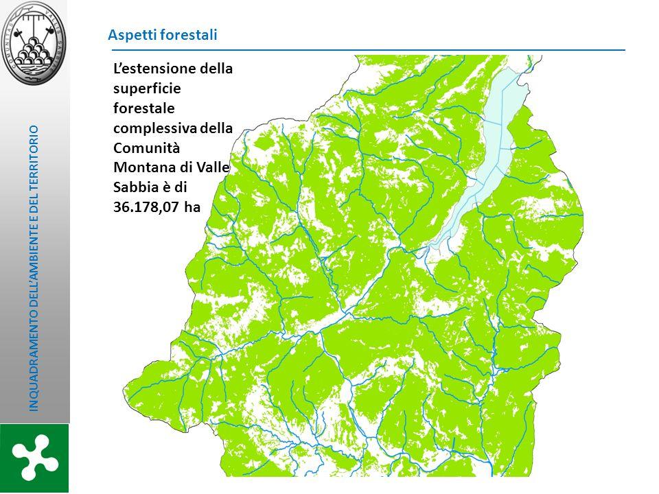 Aspetti forestali L'estensione della superficie forestale complessiva della Comunità Montana di Valle Sabbia è di 36.178,07 ha.