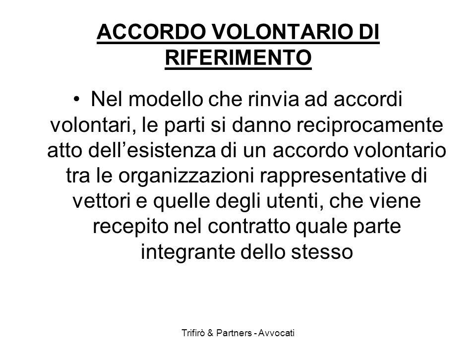 ACCORDO VOLONTARIO DI RIFERIMENTO