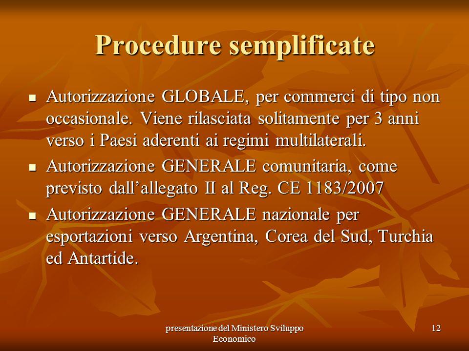 Procedure semplificate