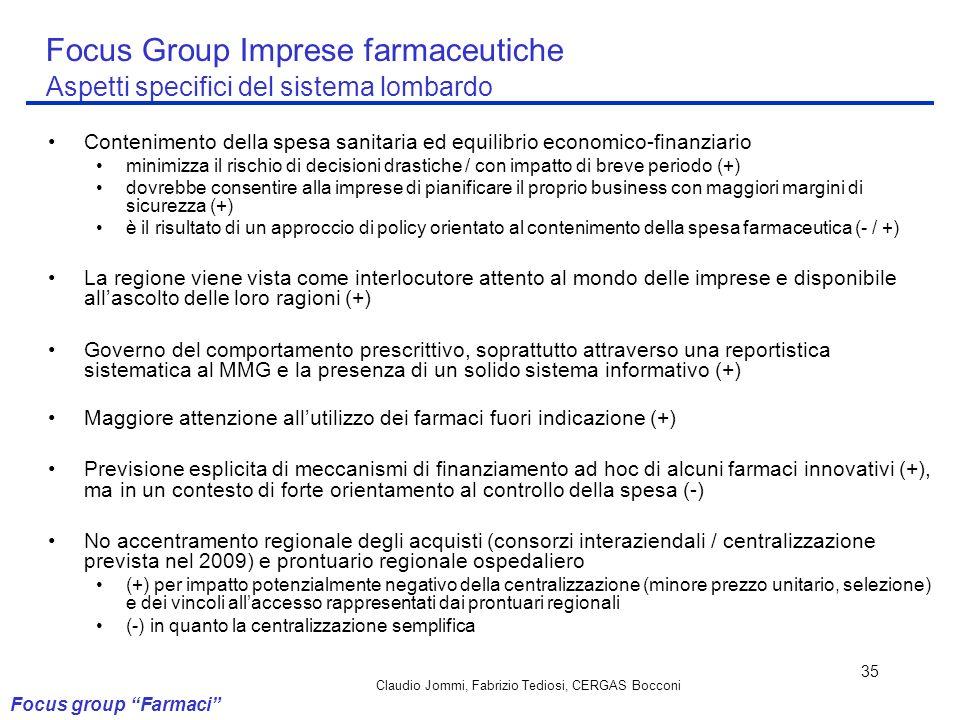 Claudio Jommi, Fabrizio Tediosi, CERGAS Bocconi