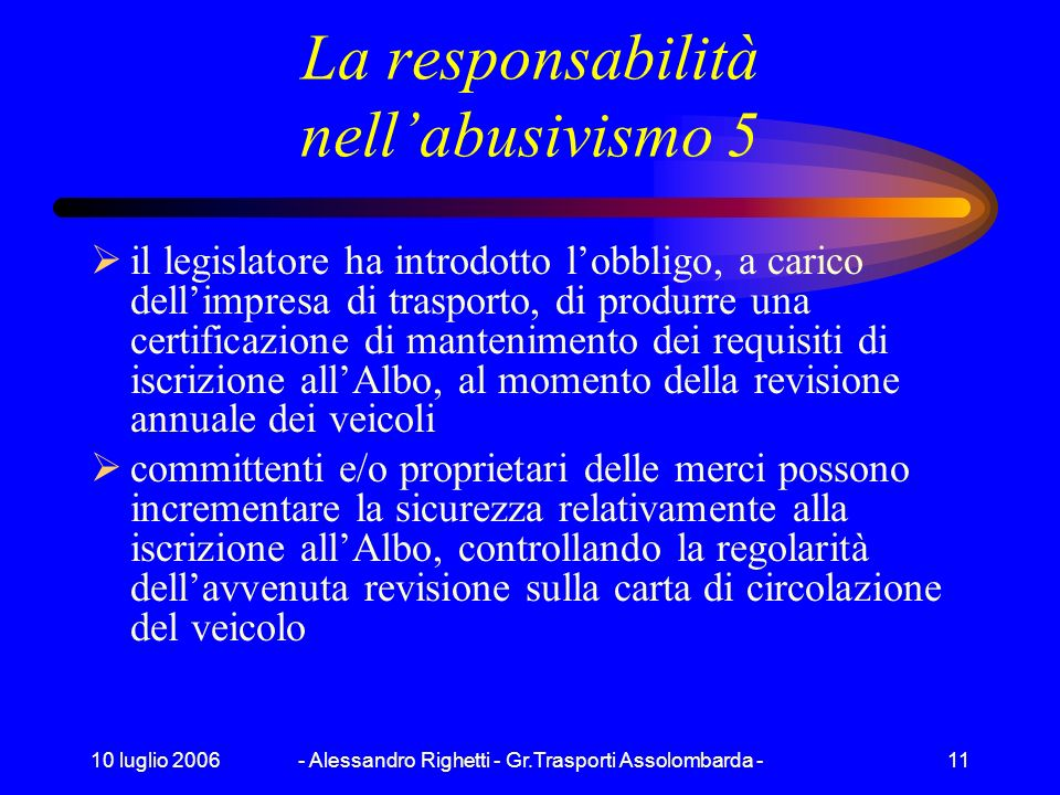 La responsabilità nell'abusivismo 5