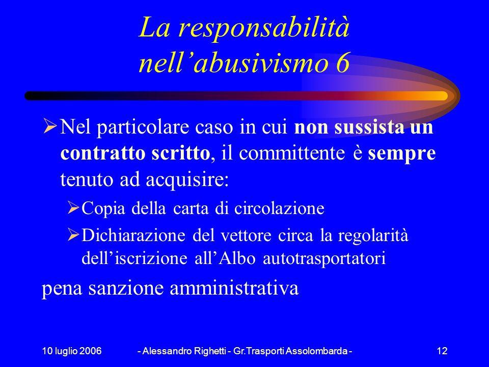 La responsabilità nell'abusivismo 6