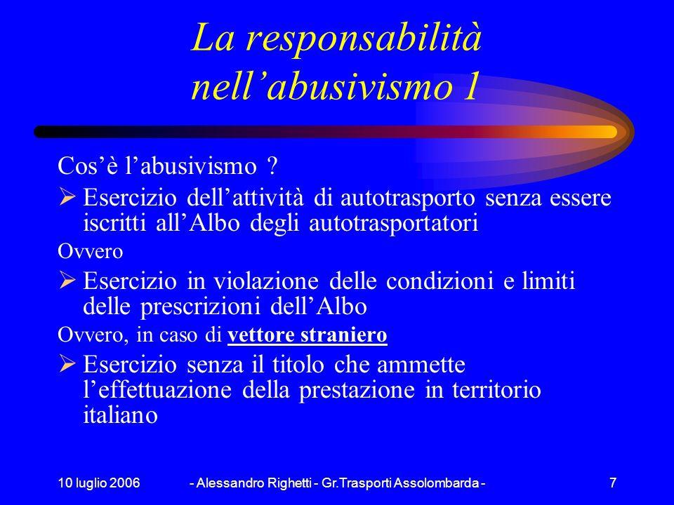 La responsabilità nell'abusivismo 1
