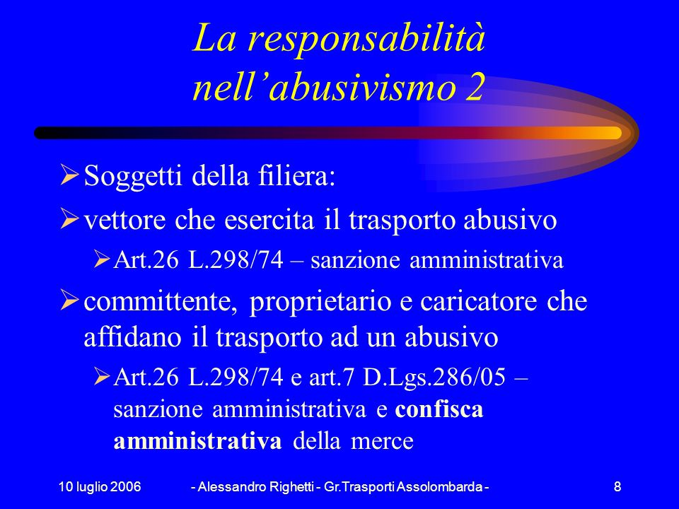 La responsabilità nell'abusivismo 2