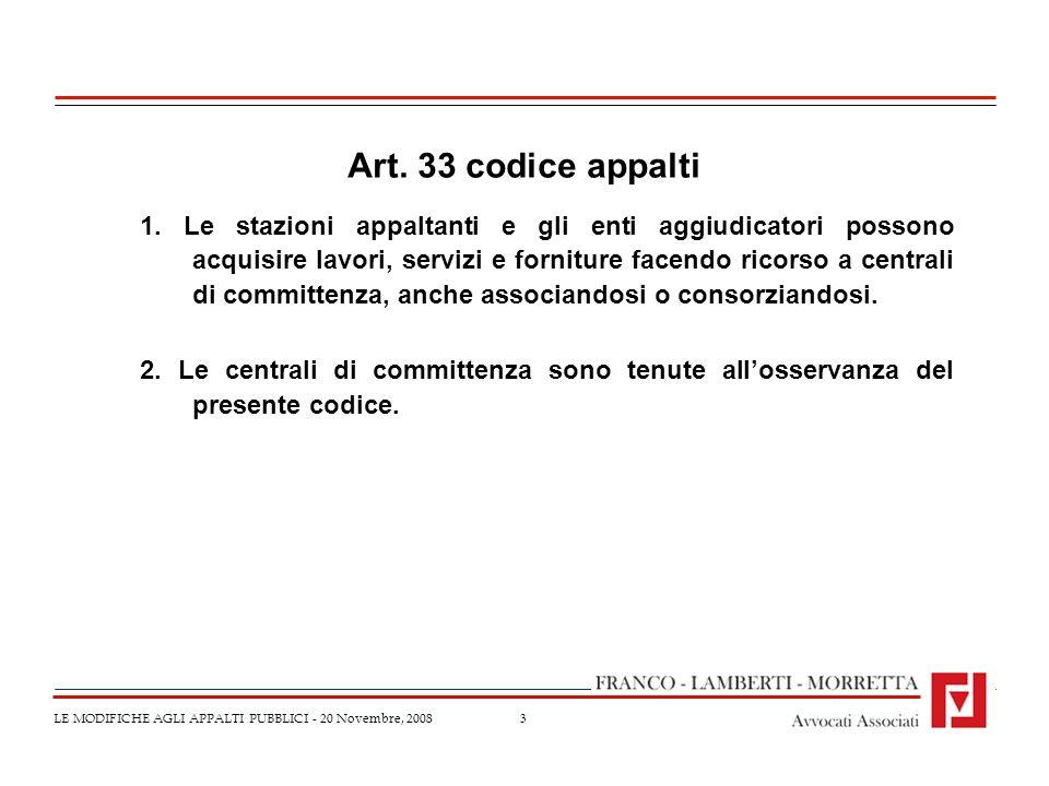 Art. 33 codice appalti