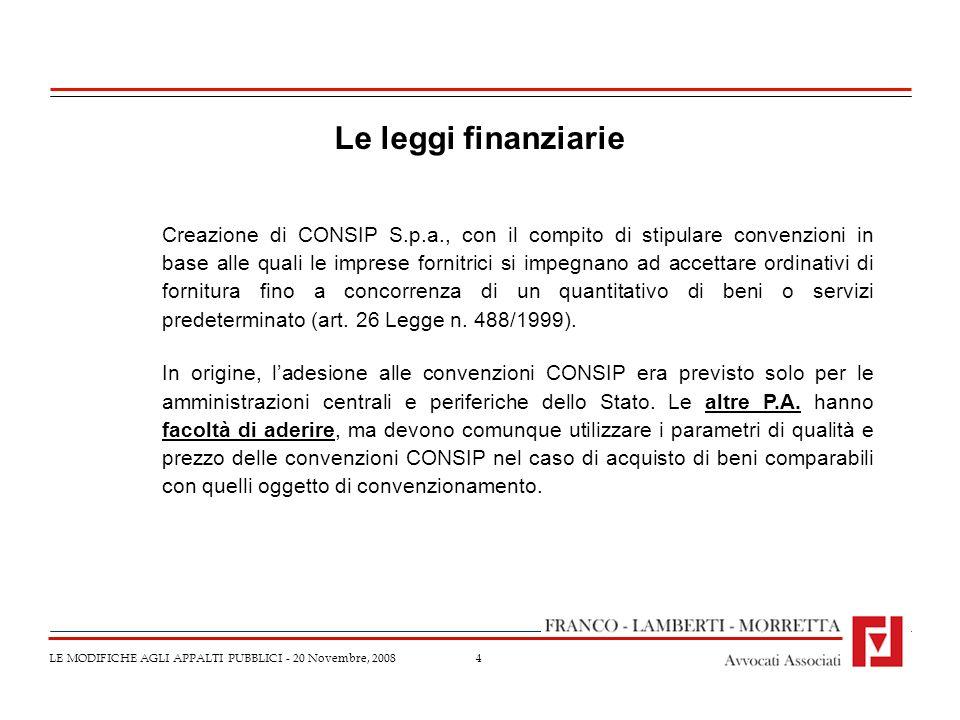Le leggi finanziarie