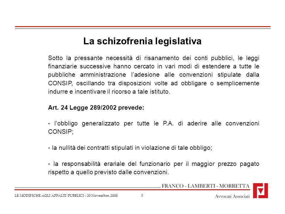 La schizofrenia legislativa
