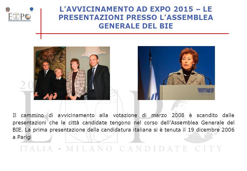 L'AVVICINAMENTO AD EXPO 2015 – LE PRESENTAZIONI PRESSO L'ASSEMBLEA GENERALE DEL BIE