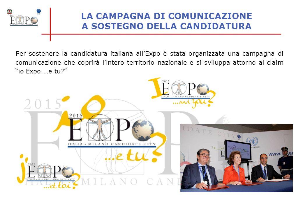 LA CAMPAGNA DI COMUNICAZIONE A SOSTEGNO DELLA CANDIDATURA