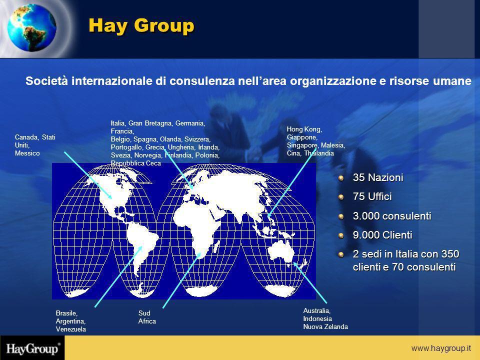 Hay Group Società internazionale di consulenza nell'area organizzazione e risorse umane. Italia, Gran Bretagna, Germania, Francia,