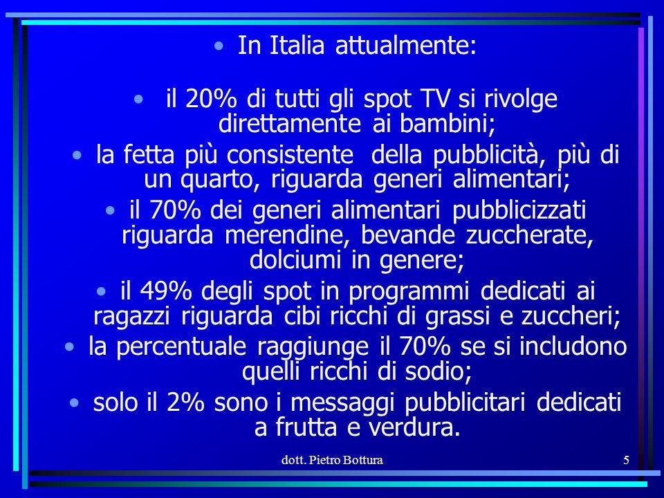 In Italia attualmente:
