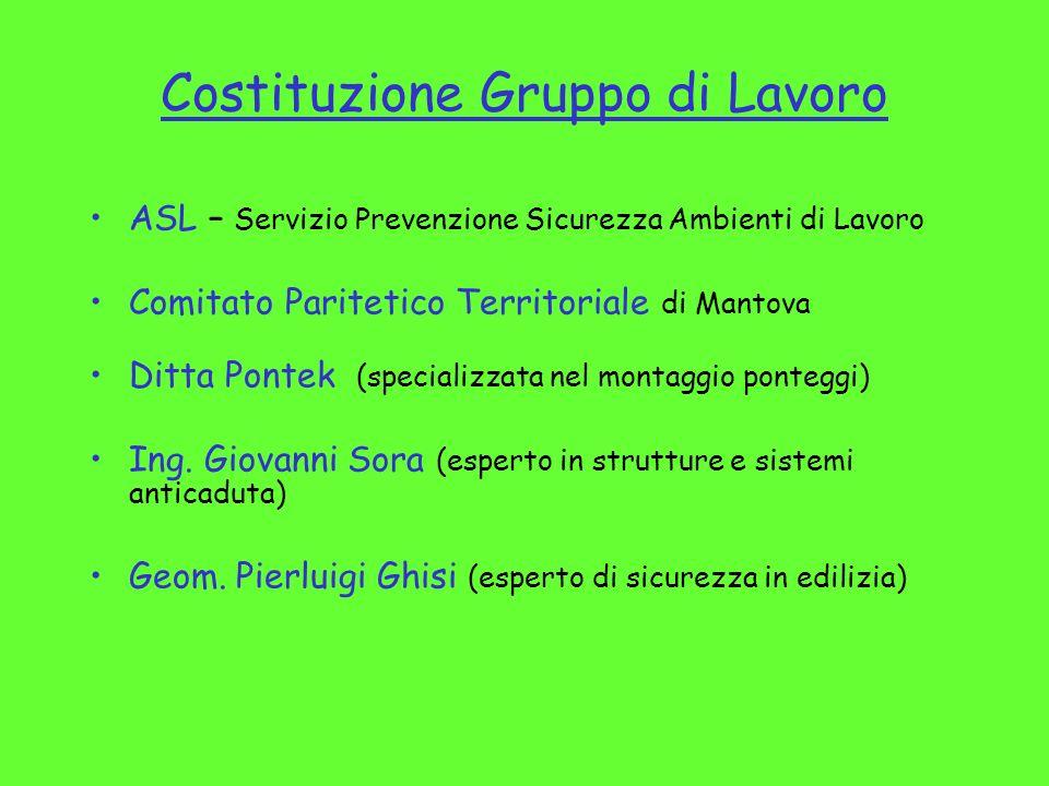 Costituzione Gruppo di Lavoro