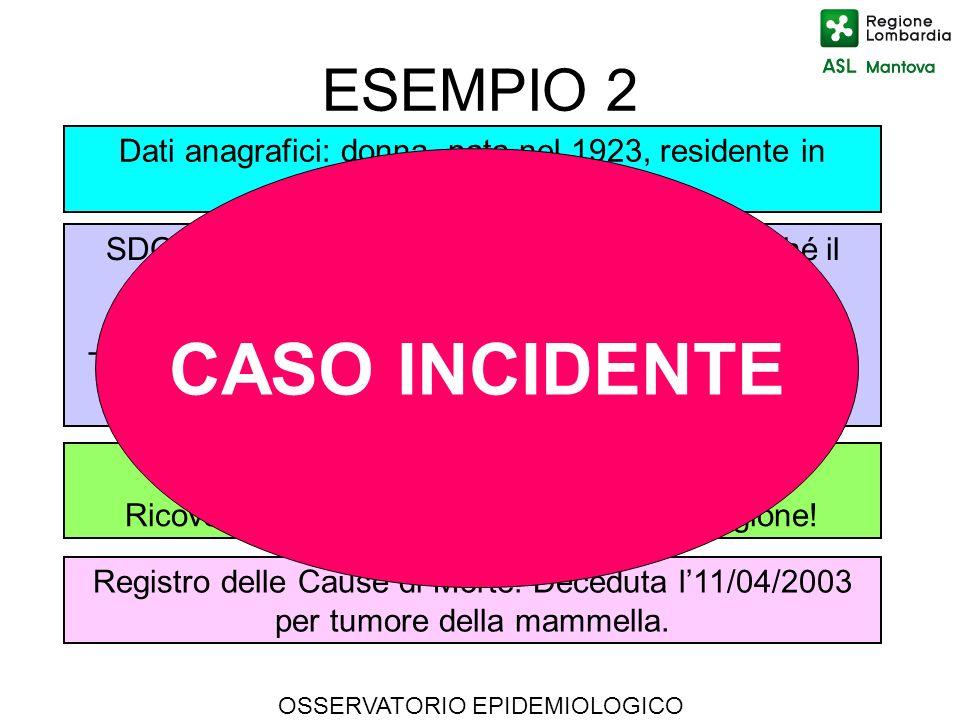 CASO INCIDENTE ESEMPIO 2