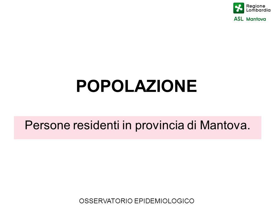 Persone residenti in provincia di Mantova.