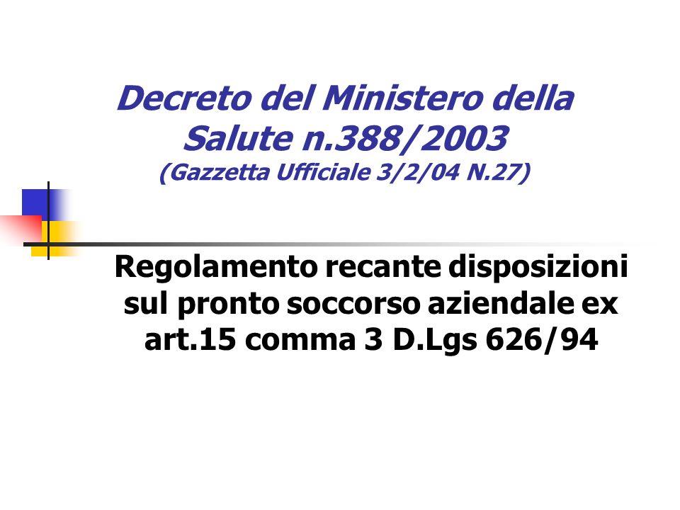 Decreto del Ministero della Salute n