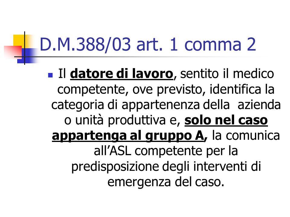 D.M.388/03 art. 1 comma 2
