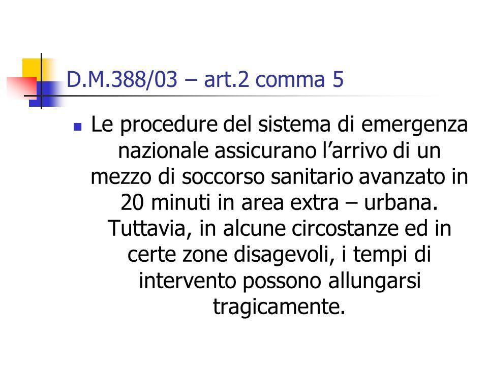 D.M.388/03 – art.2 comma 5