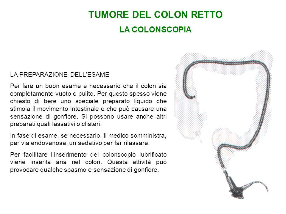 TUMORE DEL COLON RETTO LA COLONSCOPIA LA PREPARAZIONE DELL'ESAME