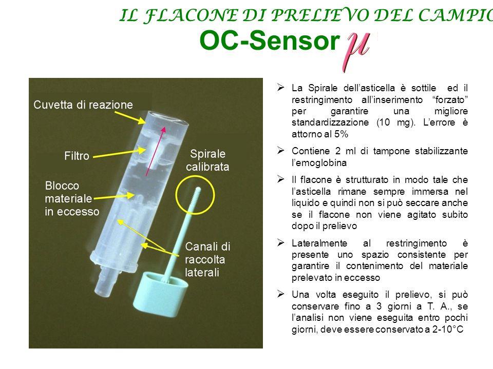 OC-Sensor IL FLACONE DI PRELIEVO DEL CAMPIONE