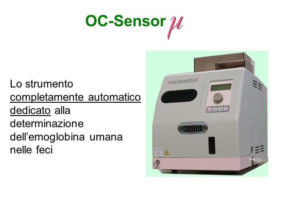 OC-SensorLo strumento completamente automatico dedicato alla determinazione dell'emoglobina umana nelle feci.