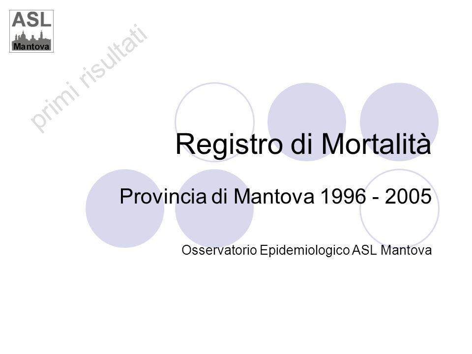 Registro di Mortalità Provincia di Mantova 1996 - 2005