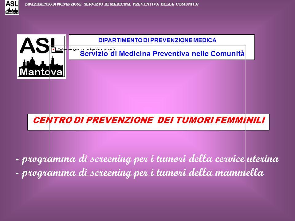 Servizio di Medicina Preventiva nelle Comunità