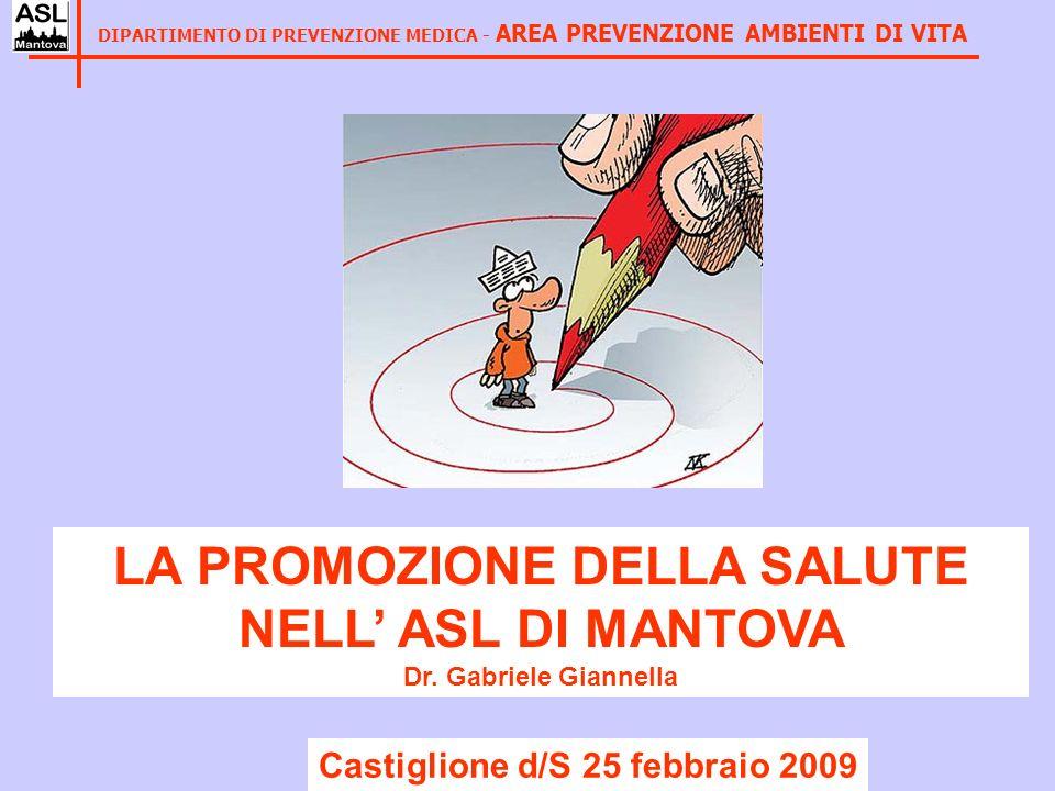 LA PROMOZIONE DELLA SALUTE NELL' ASL DI MANTOVA
