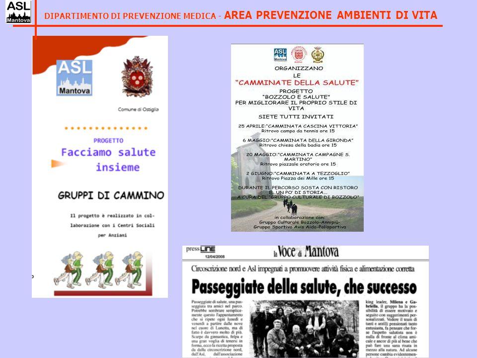 DIPARTIMENTO DI PREVENZIONE MEDICA - AREA PREVENZIONE AMBIENTI DI VITA