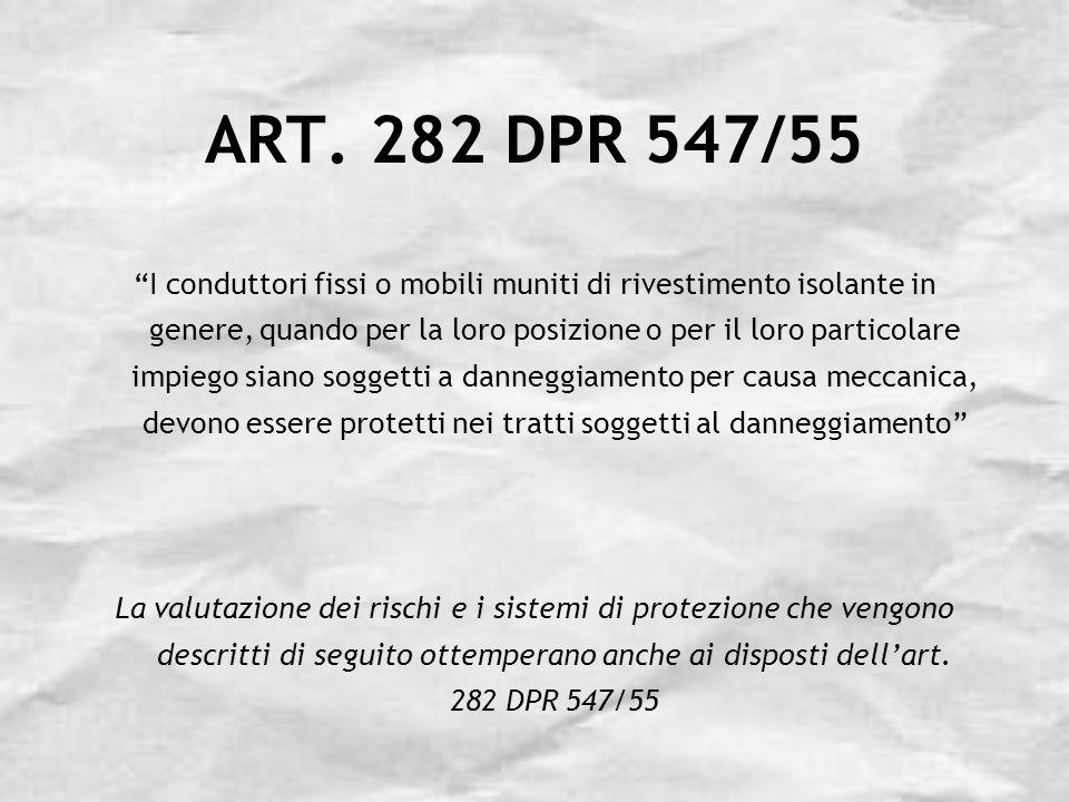 ART. 282 DPR 547/55