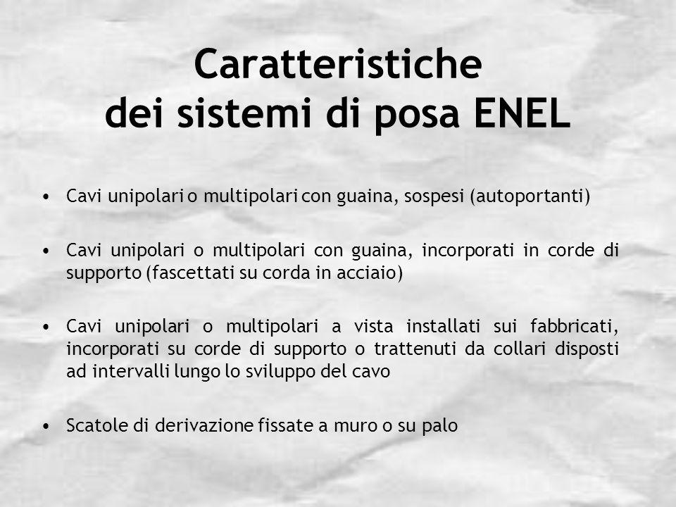 Caratteristiche dei sistemi di posa ENEL