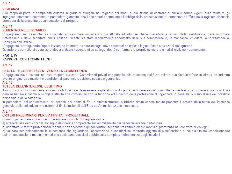 Art. 10 VIGILANZA.