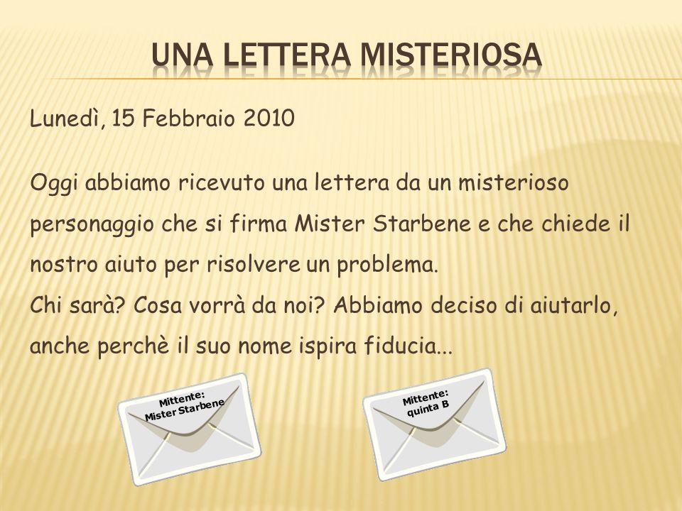 Una lettera misteriosa