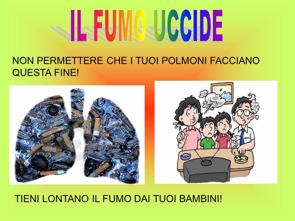 IL FUMO UCCIDE NON PERMETTERE CHE I TUOI POLMONI FACCIANO QUESTA FINE!