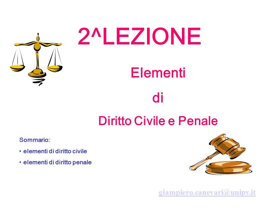 Diritto Civile e Penale