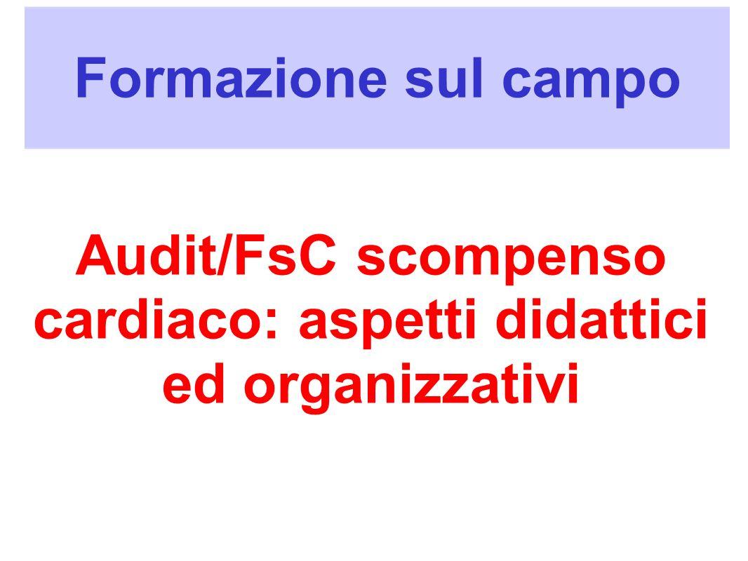 Audit/FsC scompenso cardiaco: aspetti didattici ed organizzativi
